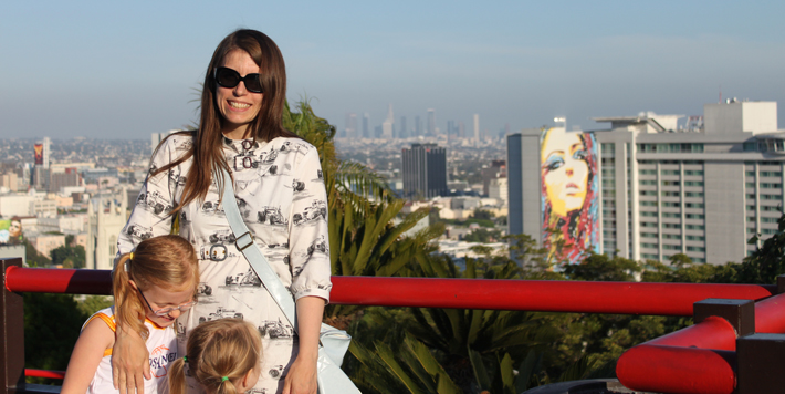 Me and the girls in Hollywood LA, summer 2010