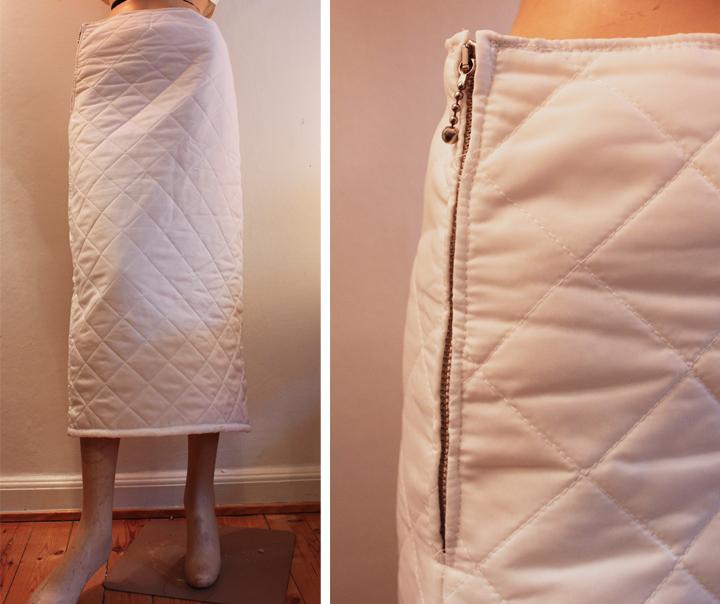 Winter skrit with zipper at the waist