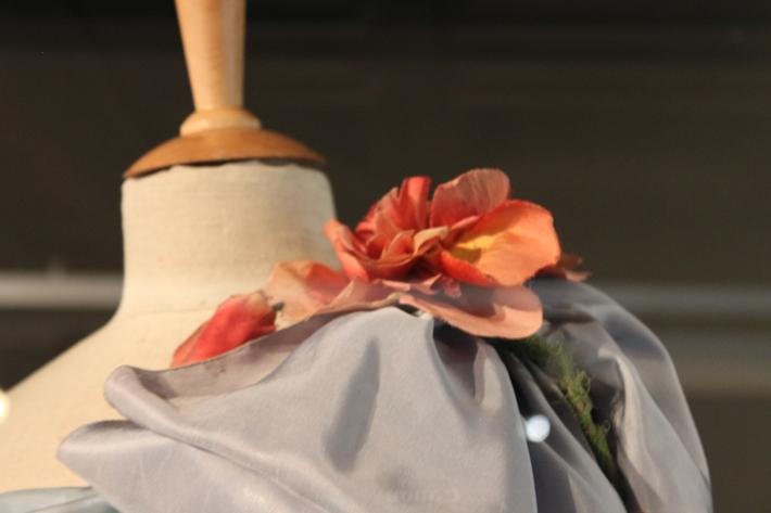 Dress with flower. Art Deco Museum Prauge