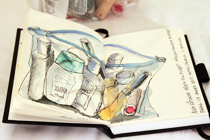 Sketch Water color and ink, Prague 2012
